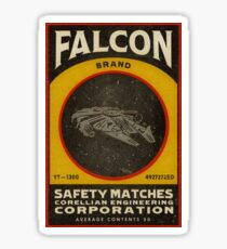 FALCON BRAND SAFETY MATCHES Sticker