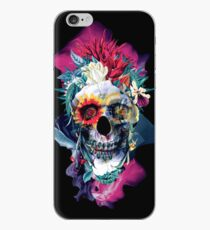 Floral Skull Blue iPhone Case