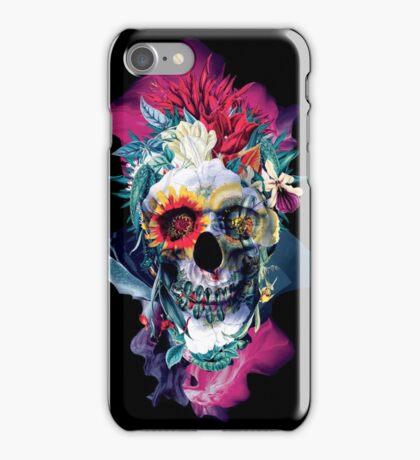 Floral Skull Blue iPhone Case/Skin