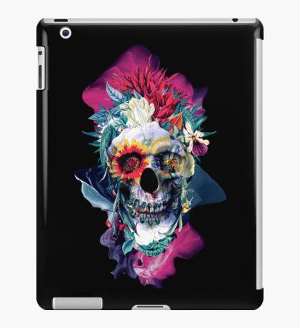 Floral Skull Blue iPad Case/Skin