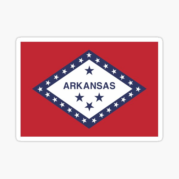 Arkansas America USA Travel Stamp Flag Sticker