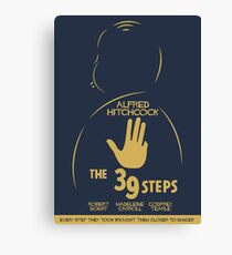 The 39 steps, Alfred Hitchock, movie poster, Thriller, classic movie, classic film, old movie Canvas Print