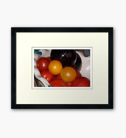 Fruit and Veggies (Still Life) Framed Print