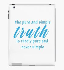 Wise Geeky Cool Inspirational Quote iPad Case/Skin