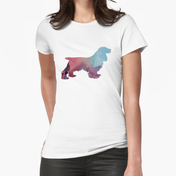 Cocker Spaniel Fitted T-Shirt