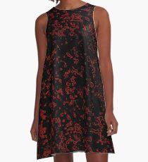 Red Granite  A-Line Dress