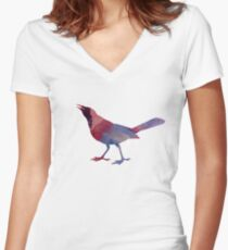 A Grackle Women's Fitted V-Neck T-Shirt