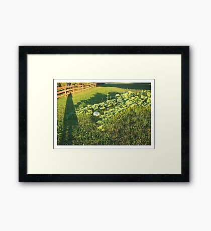 Only the Shadow Knows Framed Print