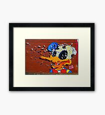 Donald Duck - Artist Matt Gondek - Atlanta Graffiti  Framed Print