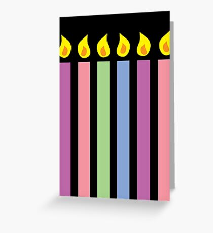 Birthday candles in different colours Greeting Card