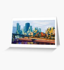 GTA IV Cityscape, Late Afternoon Greeting Card
