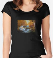 Living in a Van Down by the River Women's Fitted Scoop T-Shirt