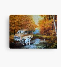 Living in a Van Down by the River Canvas Print