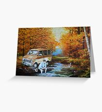 Living in a Van Down by the River Greeting Card