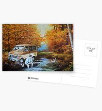 Living in a Van Down by the River Postcards