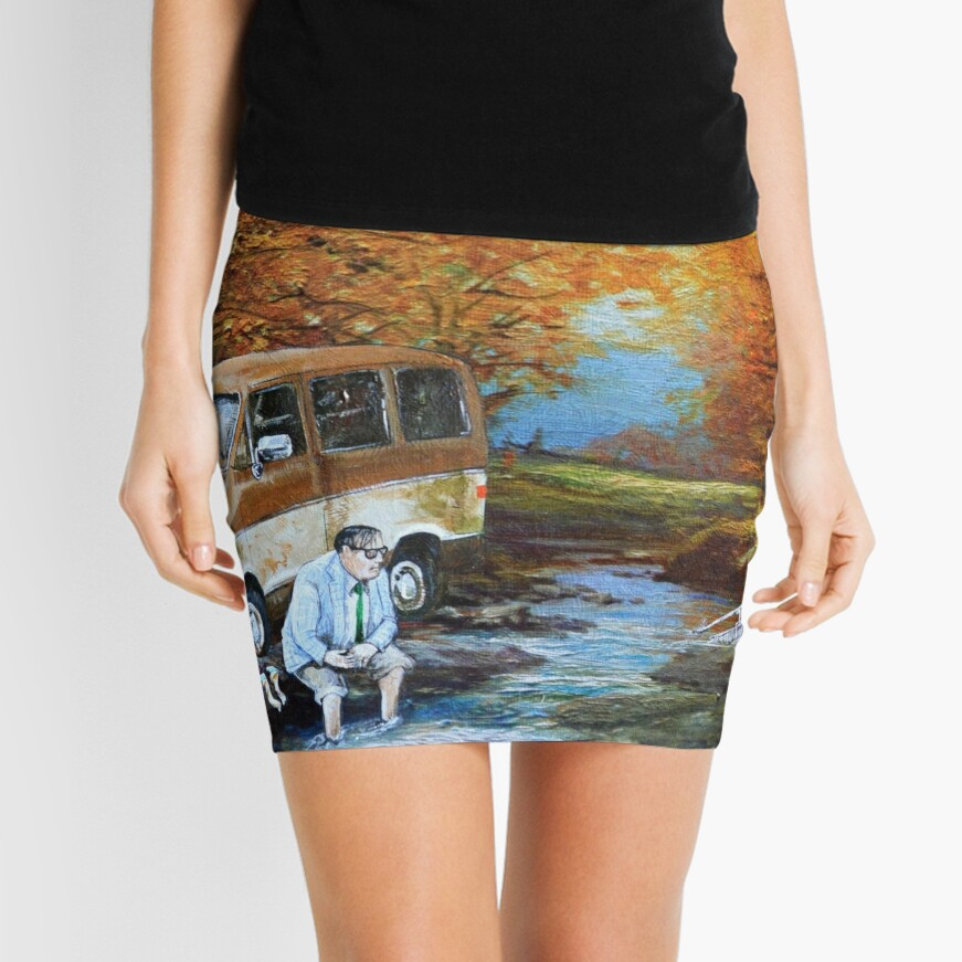 Living in a Van Down by the River Mini Skirt