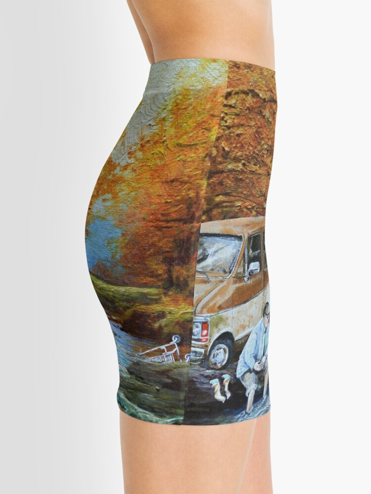 Alternate view of Living in a Van Down by the River Mini Skirt