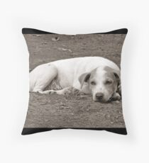 bored and tired Throw Pillow