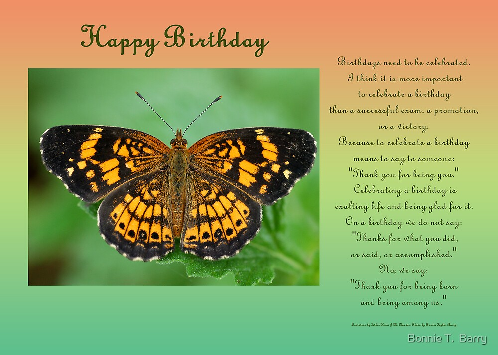 Quot Happy Birthday Greeting Card Quot By Bonnie T Barry Redbubble