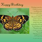 Happy Birthday Greeting Card by Bonnie T.  Barry