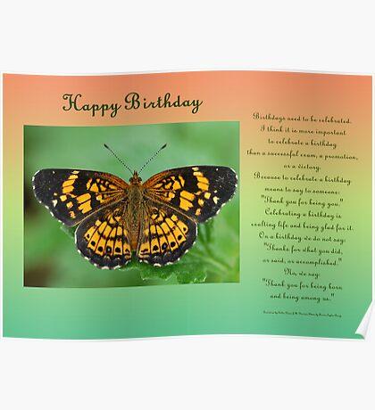 Happy Birthday Greeting Card Poster
