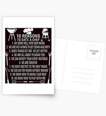 10 Reasons To Date A Chef Tshirt Postcards