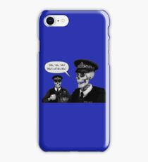 Skeleton Police (Blue) iPhone Case/Skin