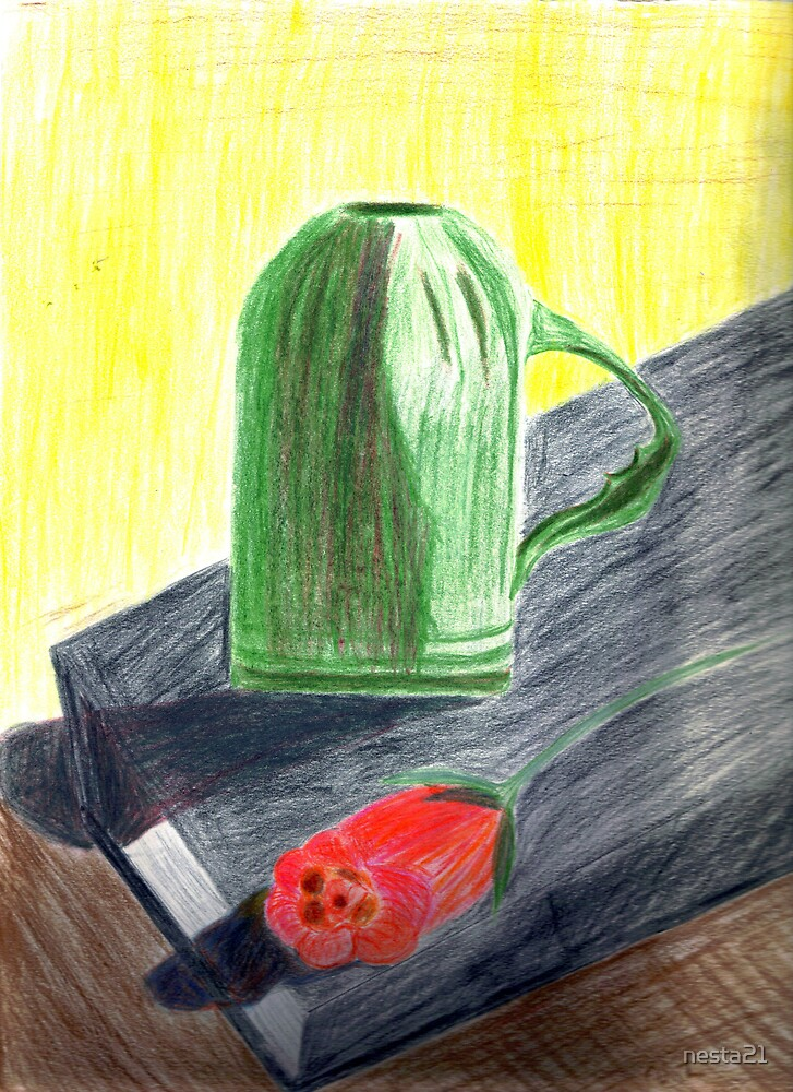 i love books roses and my green cup  by nesta21