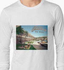 Caribbean Motel Wildwood New Jersey Retro 1960's Photographs Long Sleeve T-Shirt