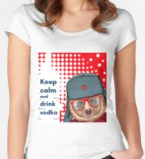 Bear in hat Women's Fitted Scoop T-Shirt