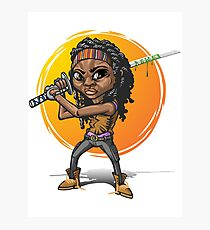 Michonne cartoon style Photographic Print