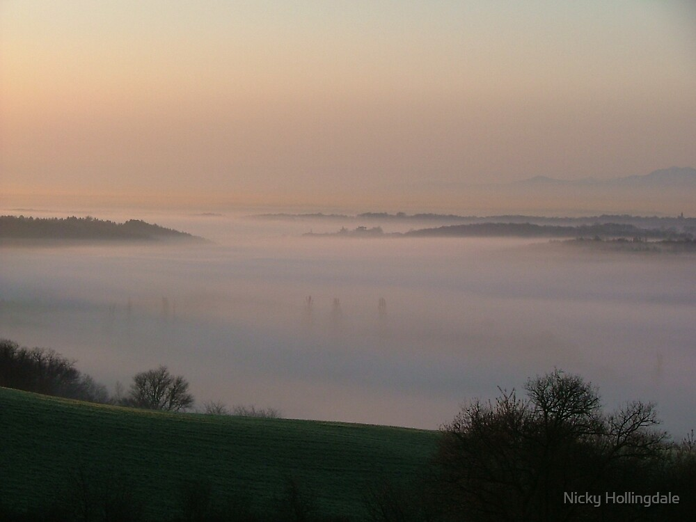 Mist in the valley 2 by Nicky Hollingdale