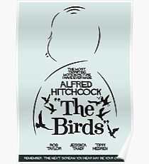 The Birds, Hitchcock Movie Poster, Horror Film, Classic Movie, Old Movie, Gli Uccelli Poster