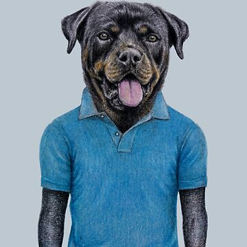 Rottweiler in polo by windzao