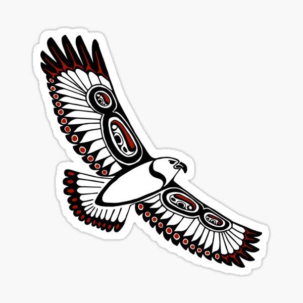 The Hawk's Flight_gray Sticker