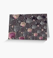 Pink and Gray Fractal Greeting Card