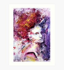 Struck by her grace, Abstract portrait Art Print