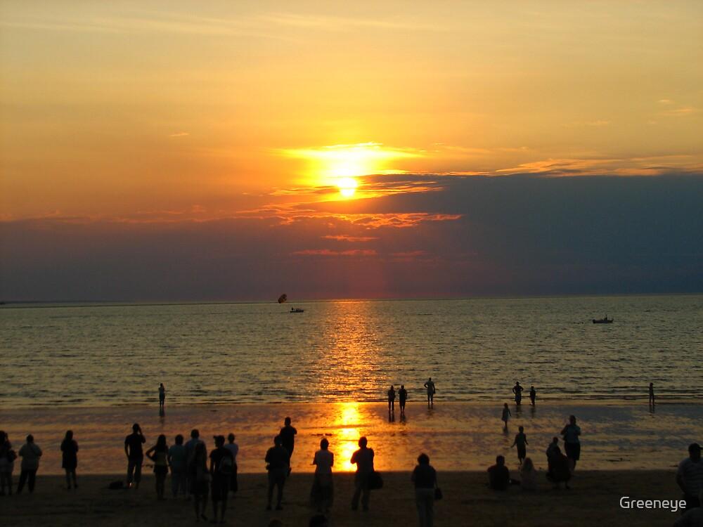 MINDL BEACH SUNSET by Greeneye