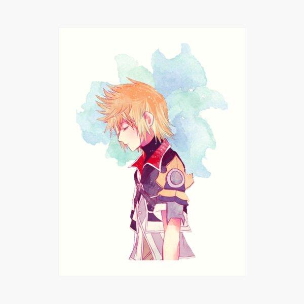 Kingdom Hearts Ventus Watercolor Art Print