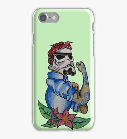 Stormtrooper Pin up iPhone Case/Skin