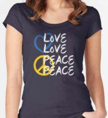 Love Love Peace Peace [Eurovision] v2 Women's Fitted Scoop T-Shirt