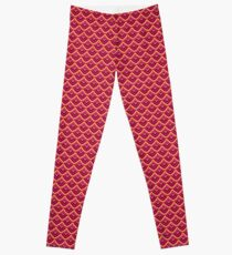 Chinese Paper Dragon by Julie  Everhart Leggings