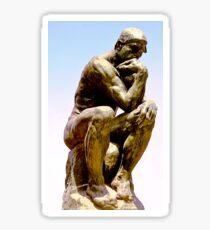 THE THINKER, Sculpture, Rodin, Le Penseur in the Musée Rodin in Paris Sticker