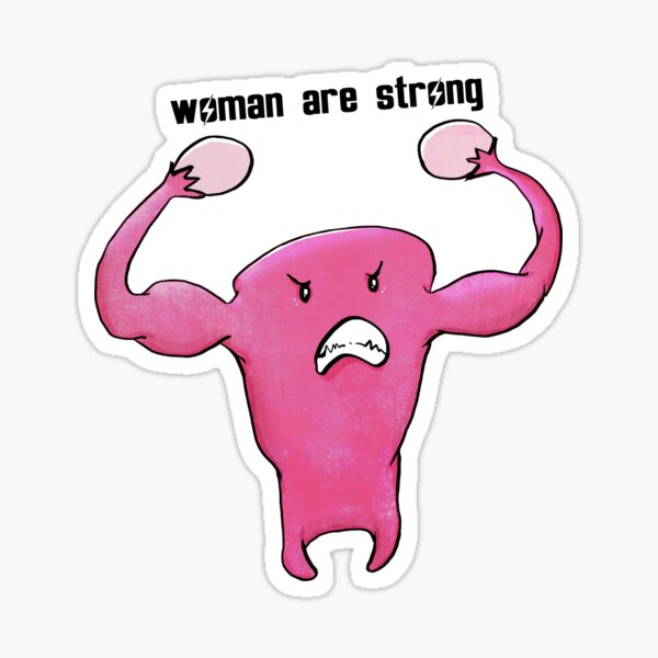 woman are strong Sticker