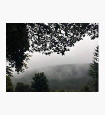 Misty Mountain Tops Photographic Print