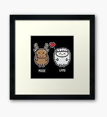 Moose Lamb Framed Print