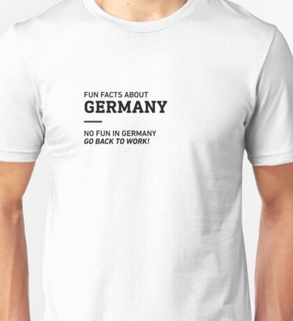Fun Facts About Germany Unisex T-Shirt