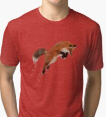 Leaping Red Fox Tri-blend T-Shirt