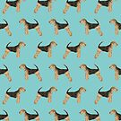 Airedale Terrier Dog pattern dog breed customized pet portrait by pet friendly by PetFriendly by PetFriendly
