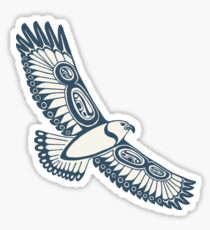 The Hawk's Flight_ Light cerulean Sticker